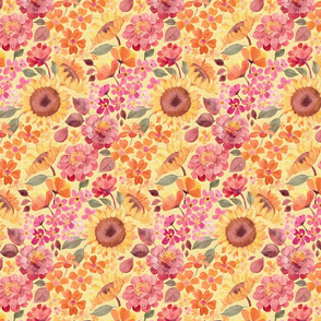 Happy Boho Sixties Floral - small print