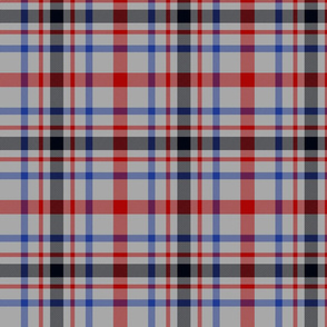 "MacDonagh tartan - 7"" modern on grey"