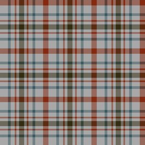 "MacDonagh tartan - 6"" weathered on grey"