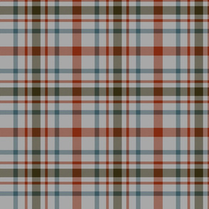"MacDonagh tartan - 7"" weathered on grey"