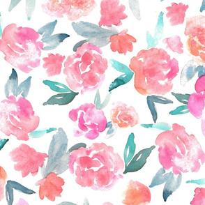 Watercolor Floral - Larger Scale