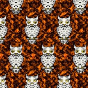 Ms Owl on Orange