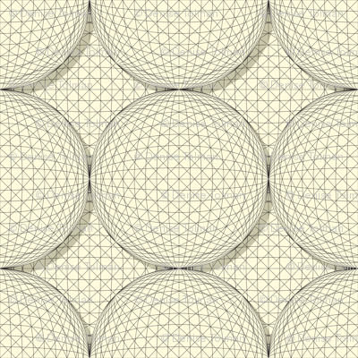 3D Sphere Black and White