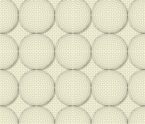 3D Sphere Black and White fabric by fabric_is_my_name on Spoonflower - custom fabric
