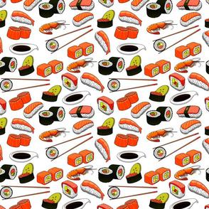 Sushi Anyone? on White