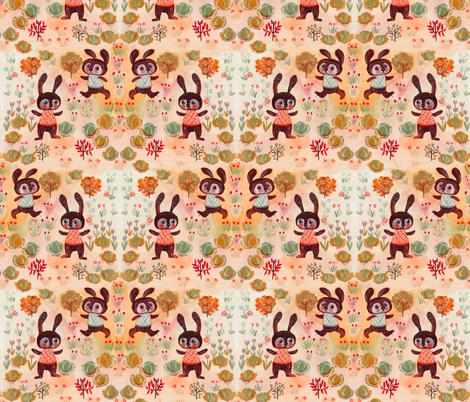 favola con coniglio fabric by potyautas on Spoonflower - custom fabric