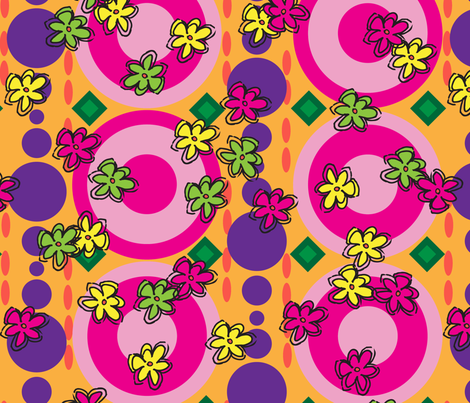 FlowerPowerBubbleUp fabric by choffman on Spoonflower - custom fabric