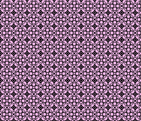 pink tiled fabric by erin_mcclain_studio on Spoonflower - custom fabric