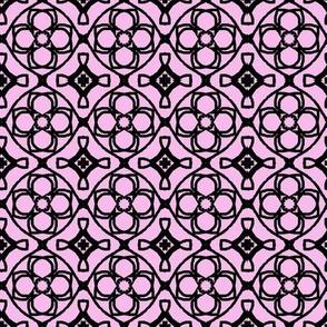 pink tiled