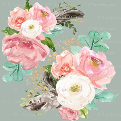 """8"""" Boho Pink Teal Florals // Edward Green"""