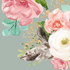 """12"""" Boho Pink Teal Florals // Edward Green"""