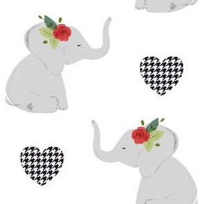 spirit elephants // red rose