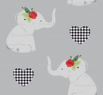 spirit elephants // red rose // gray