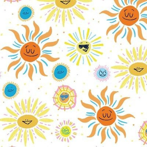 Suns Mid Century- white