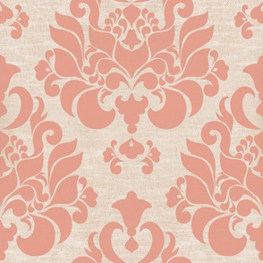 victorian pink damask