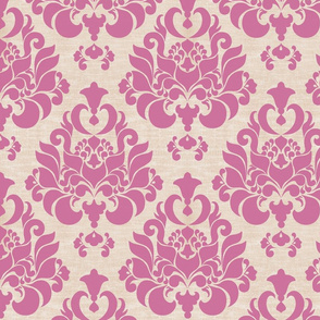 damask { raspberry sherbet }