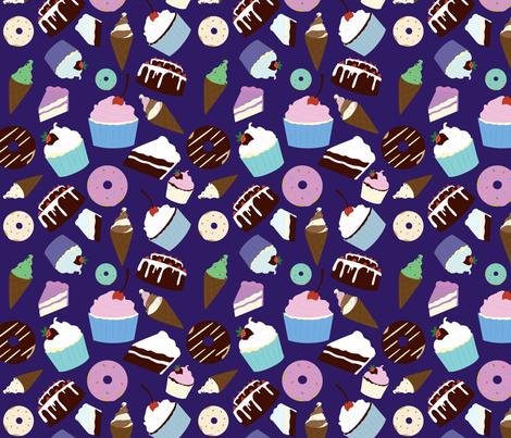 Sweet Treats - colored fabric by svaeth on Spoonflower - custom fabric