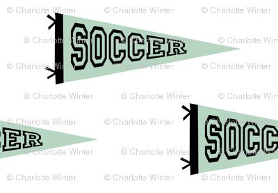 soccer pennant - sport, sports, football, soccer, mls, football star - mint