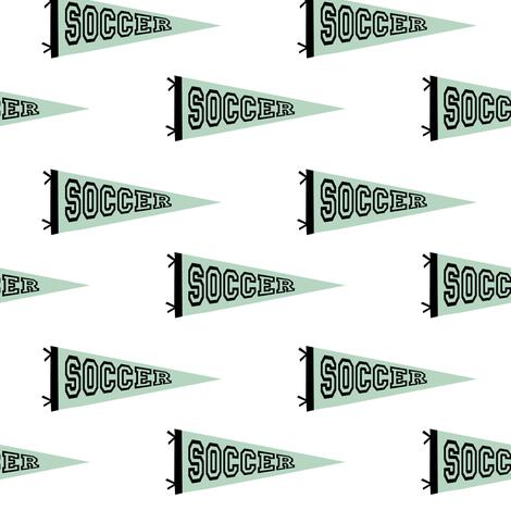 soccer pennant - sport, sports, football, soccer, mls, football star - mint fabric by charlottewinter on Spoonflower - custom fabric