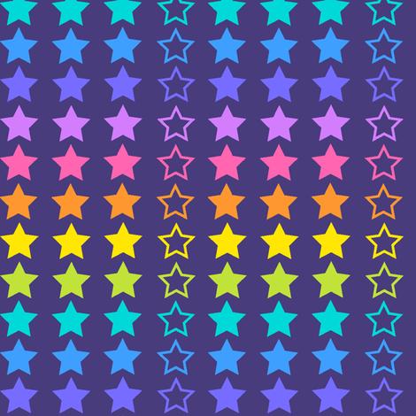 Rainbow stars fabric by cressida_carr on Spoonflower - custom fabric