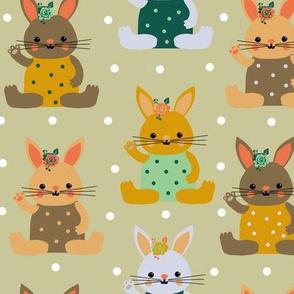 rabbitini cotton candy dots-ed
