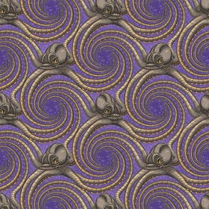 ★ KRAKEN ' ROLL ★ Violet - Tiny Scale / Collection : Kraken ' Roll – Steampunk Octopus Print