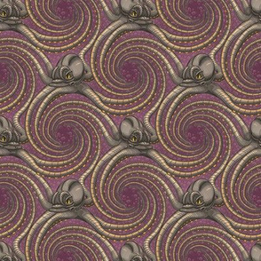 ★ KRAKEN ' ROLL ★ Purple - Tiny Scale / Collection : Kraken ' Roll – Steampunk Octopus Print
