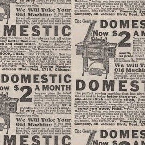 1910 The Truth About Sewing Machines advertisement