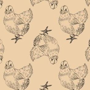 Hens on Tan