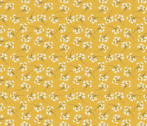 Golden Cotton, Small fabric by laurapol on Spoonflower - custom fabric
