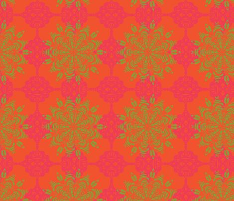 Mosaic Mandala - Limecello fabric by julesjac964 on Spoonflower - custom fabric