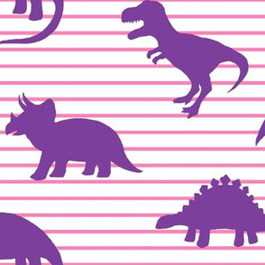Dino Pink Stripe Purple