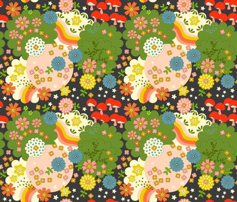Cosmic Flowering  fabric by morecandyshop on Spoonflower - custom fabric