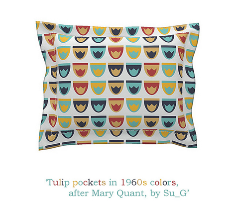 Tulip pockets in 1960s colors, after Mary Quant, by Su_G