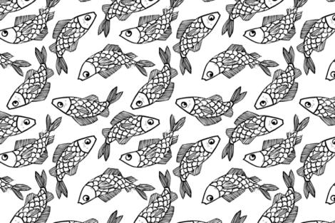 Oh Koi fabric by hawkandhammer on Spoonflower - custom fabric
