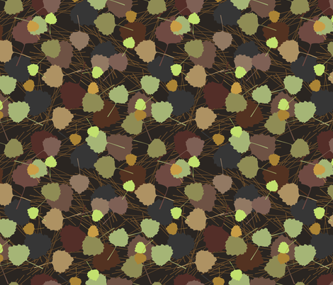Scattered Leaves fabric by denise_ortakales on Spoonflower - custom fabric