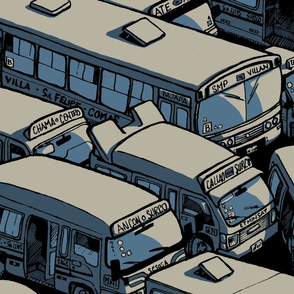 City traffic, blue