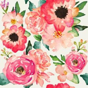 """8"""" Coral Floral Clusters // Spring Wood"""