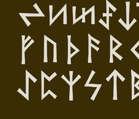 Eder Futhark Runes - Large fabric by vagabond_folk_art on Spoonflower - custom fabric