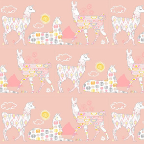 Llovely LLamas Simple Pink