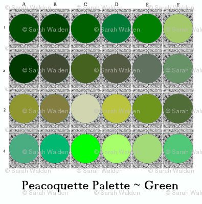 Peacoquette Palette ~ Green Selection