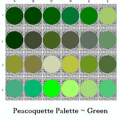 Peacoquette Palette ~ Green Selection  fabric by peacoquettedesigns on Spoonflower - custom fabric