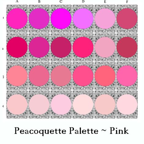 Peacoquette Palette ~ Pink Selection  fabric by peacoquettedesigns on Spoonflower - custom fabric