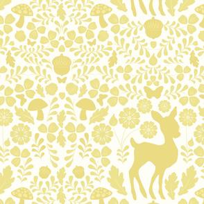 Woodland Deer (on Yellow)