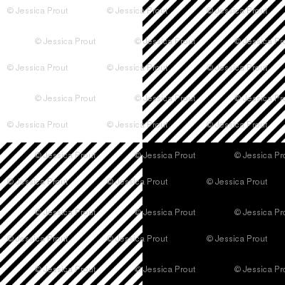"1/4"" black and white plaid -C18BS"