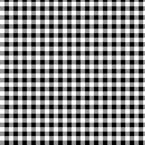 """1/4"""" black and white plaid -C18BS fabric by littlearrowdesign on Spoonflower - custom fabric"""