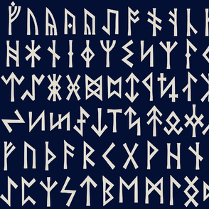 Viking Runes - Navy
