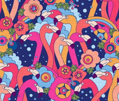 For the love of flamingo fabric by meliszawang on Spoonflower - custom fabric