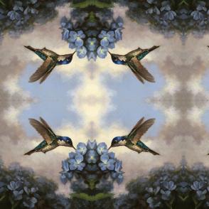 Hummingbirds and Hydrangeas