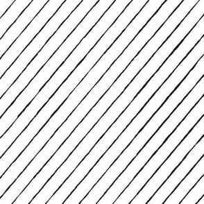 distress pinstripe tipsy white black